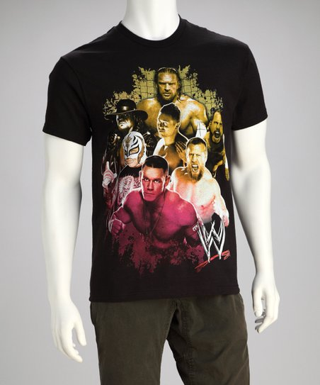 Black WWE Group Tee - Men