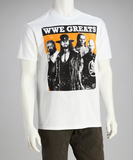 White 'WWE Greats' Tee - Men