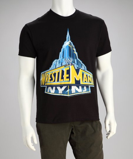 Black 'Wrestle Mania NY NJ' Tee - Men