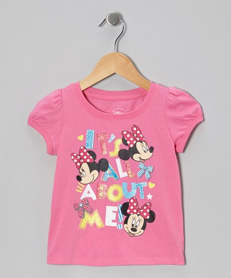 Pink 'It's All About Me' Minnie Tee - Infant & Toddler