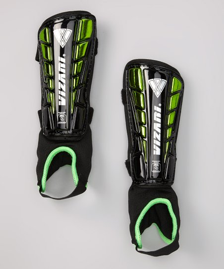 Black & Green Preston Shin Guards