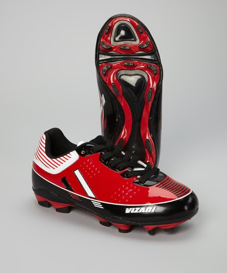 Red & White Toledo Soccer Cleat - Kids