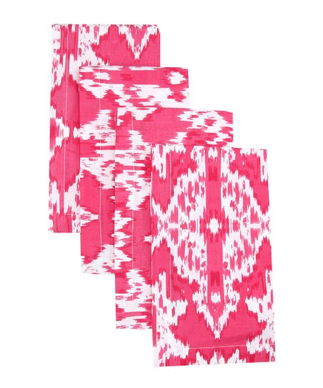 Fete Hot Pink Ikat Napkin - Set of Four