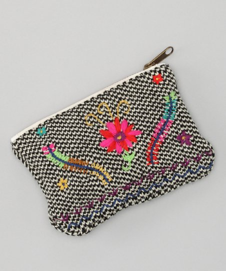 Pink & Orange Guatemalan Coin Purse
