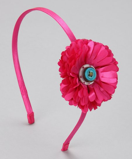 Fuchsia	Button Flower Headband