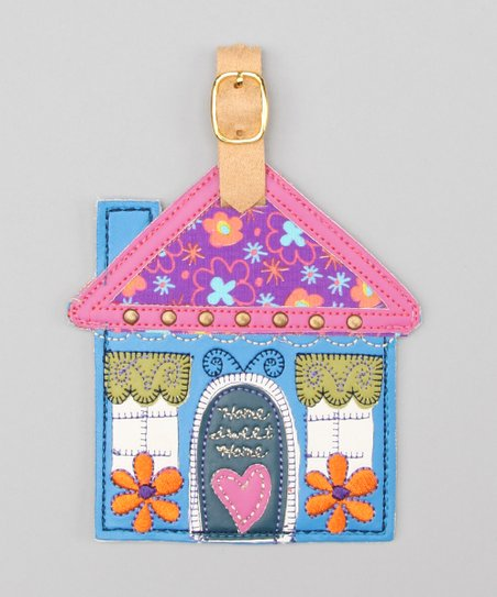 Blue 'Home Sweet Home' Gypsy Luggage Tag