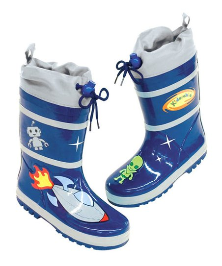 Blue Space Hero Rain Boot