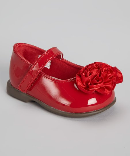 Red Patent & Satin Mary Jane