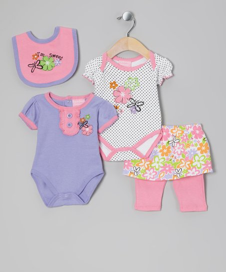 Pink & Lavender Sweet Layette Set