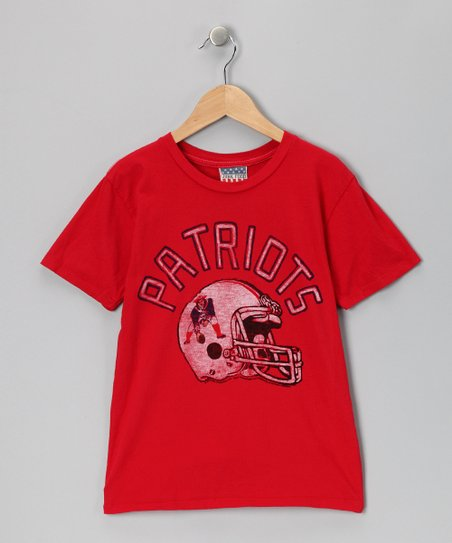 Red New England Patriots Tee - Kids