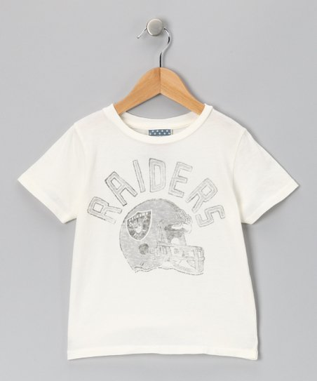 White Oakland Raiders Tee - Kids