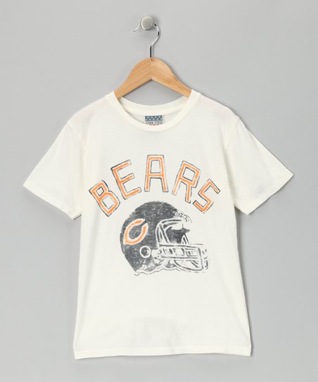 White Chicago Bears Tee - Kids