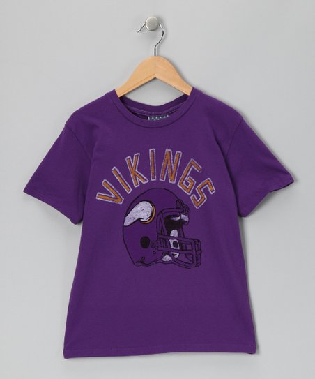 Plum Minnesota Vikings Helmet Tee - Kids