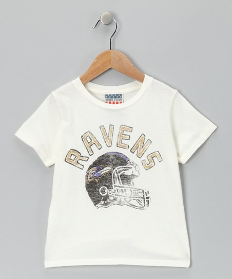 White Baltimore Ravens Tee - Kids