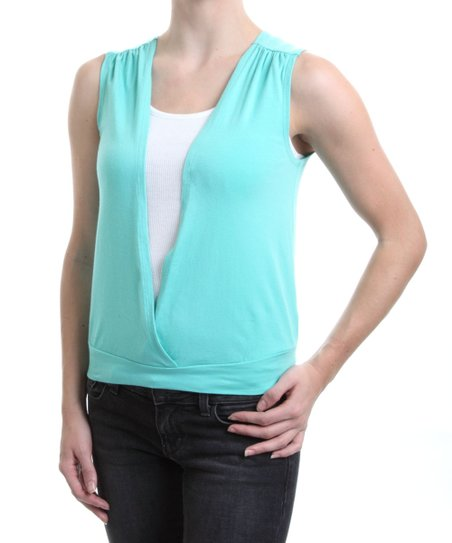 Blue Canoe Aqua Organic Surplice Top