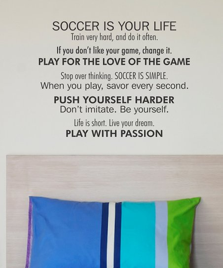 Belvedere Designs Black Play with Passion Wall Quote