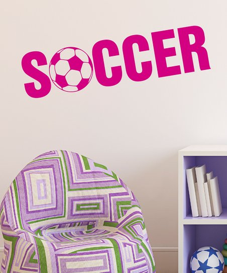 Belvedere Designs Pink &#039;Soccer&#039; Wall Quote