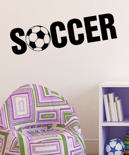 Belvedere Designs Black &#039;Soccer&#039; Wall Quote