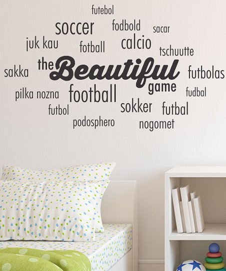 Belvedere Designs Black Beautiful Game Cloud Wall Quote