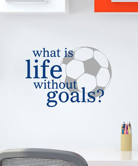 Belvedere Designs Sapphire Life Goals Wall Quote