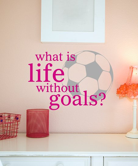 Belvedere Designs Pink Life Goals Wall Quote
