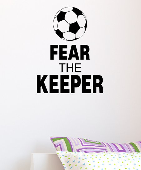 Black 'Fear the Keeper' Wall Quote