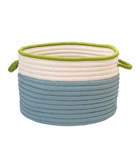 Light Blue & Bright Green In the Band Storage Basket