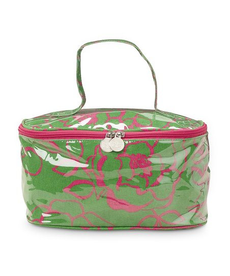 Pink & Green Camelot Train Case