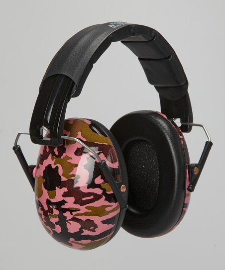Pink Camo Earmuffs - Girls
