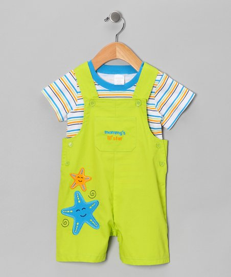 Lime Starfish Tee & Shortalls