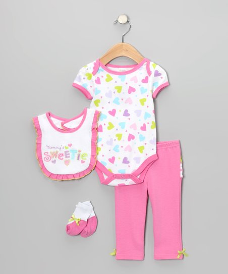 Pink 'Mommy's Sweetie' Bodysuit Set - Infant