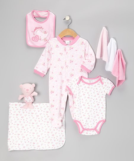 Pink Sweet Heart Nine-Piece Layette Set - Infant