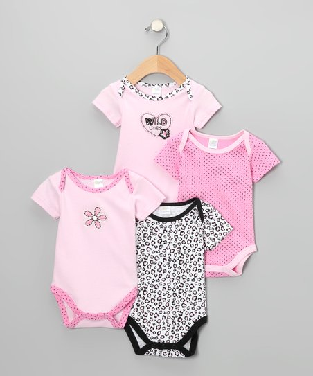 Pink 'Wild Child' Bodysuit Set - Infant
