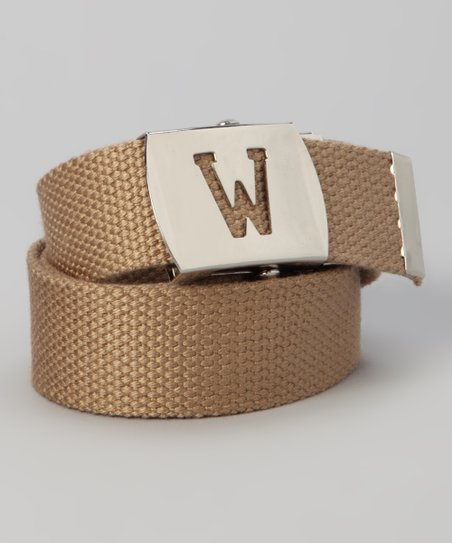 Khaki Initial Buckle Belt