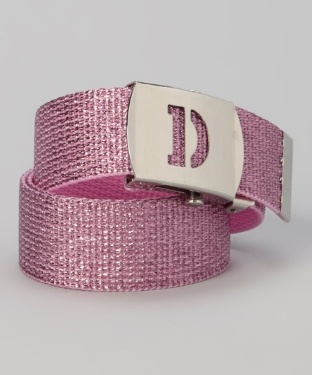 Pink Metallic Initial Belt