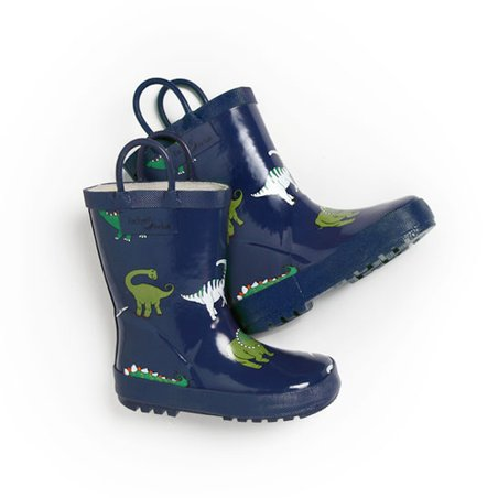 Blue Dinosaur Rain Boot