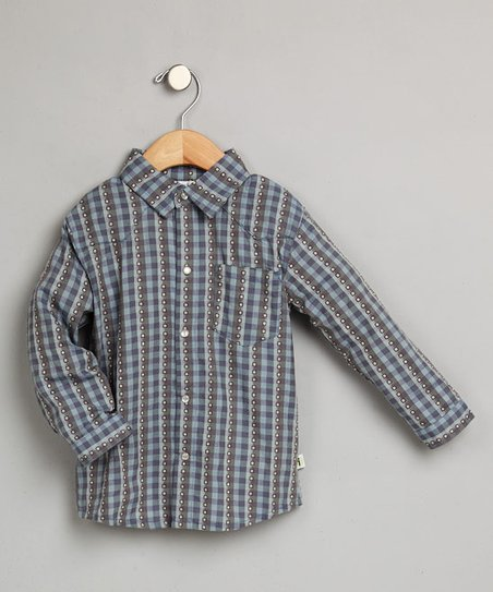 Blue & Gray Button-Up - Infant & Toddler