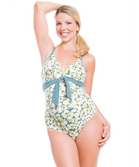 Green Camarga Maternity One-Piece