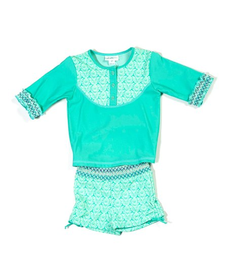 Spring Greens Rashguard Set - Infant & Girls