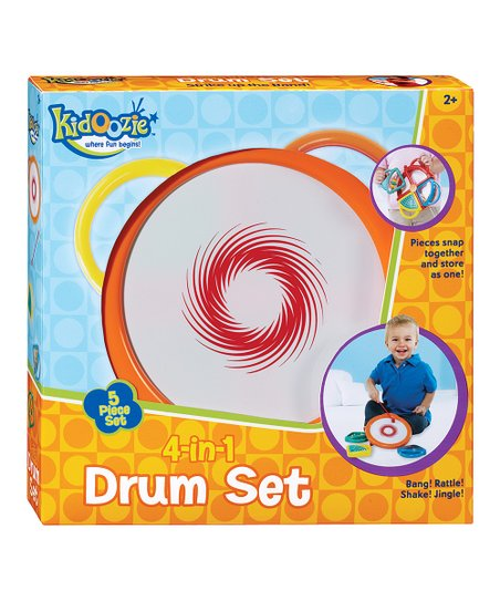 Kidoozie 4-In-1 Drum Set