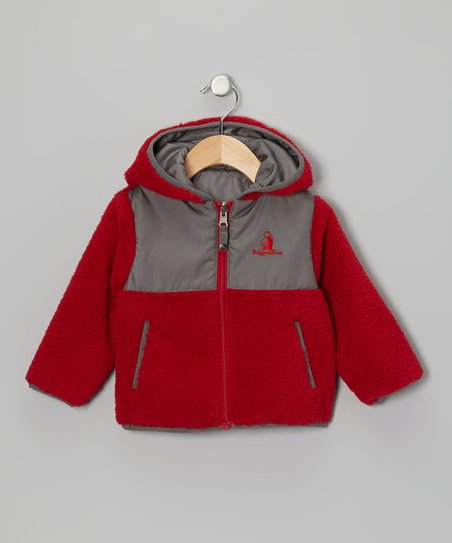 Red & Gray Reversible Sherpa Coat - Infant, Toddler & Boys
