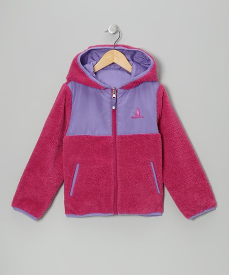 Berry & Lilac Reversible Sherpa Coat - Infant, Toddler & Girls