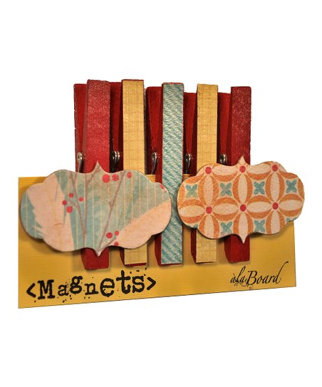 Jubilee Dry-Erase & Clothespin Magnet Set