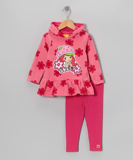 Pink Strawberry Hoodie & Pants - Infant, Toddler & Girls