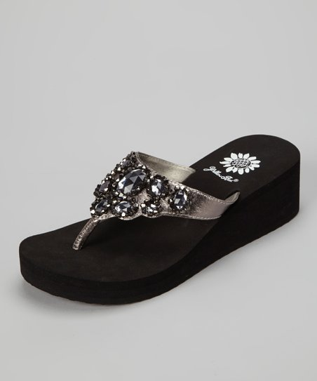 Pewter Amabel Wedge Sandal