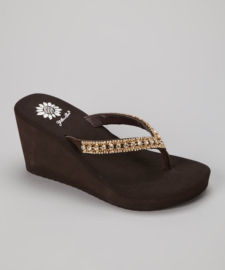 Brown Bluesky Wedge Sandal