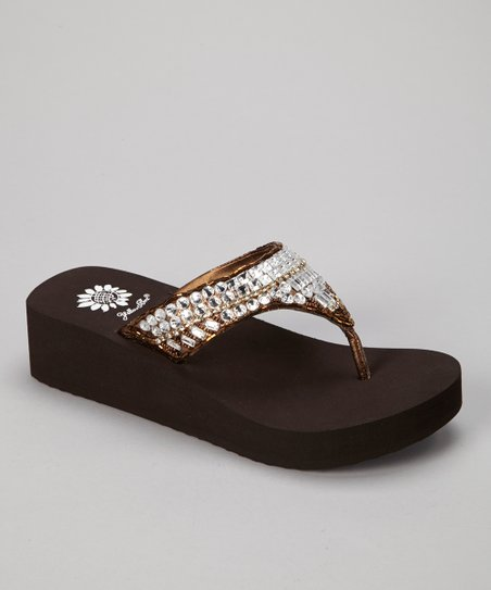 Bronze Peachy Wedge Sandal