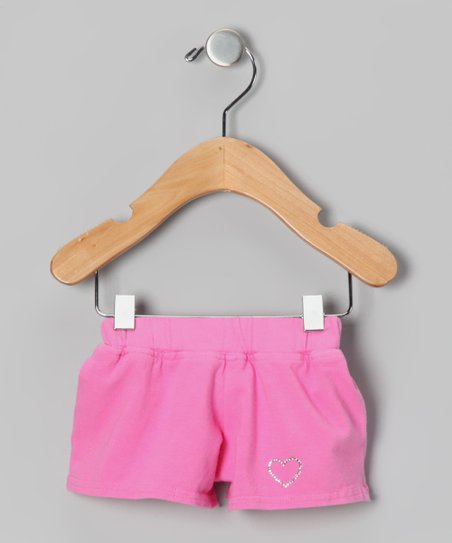 Pink Heart Shorts - Infant & Girls