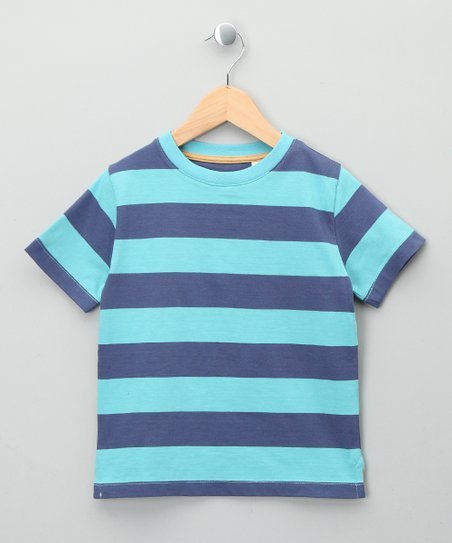 Blue Stripe Organic Tee -Toddler & Kids