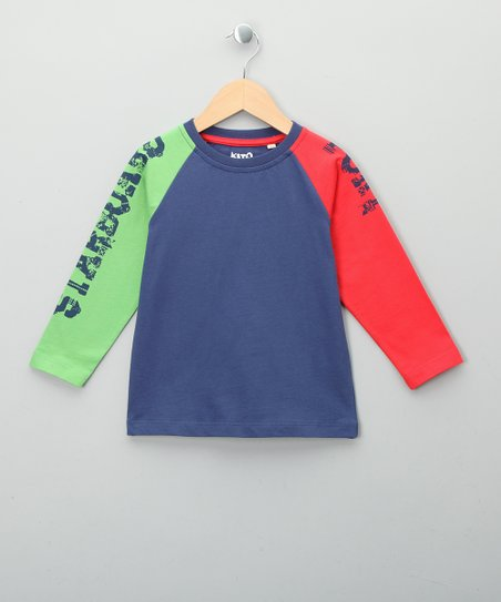 Navy 'Port' & 'Starboard' Organic Tee - Toddler & Kids